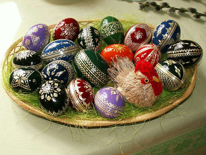 An Easter egg basket