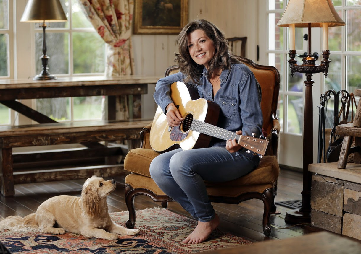 Amy Grant and dog photo