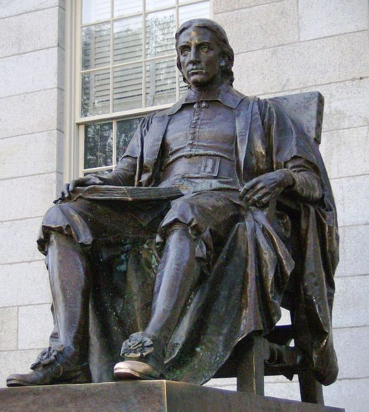 John Harvard statue photo Creative Commons Attribution-Share Alike 3.0 Unported