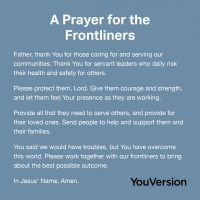 Prayer for the Frontliners & Health Workers