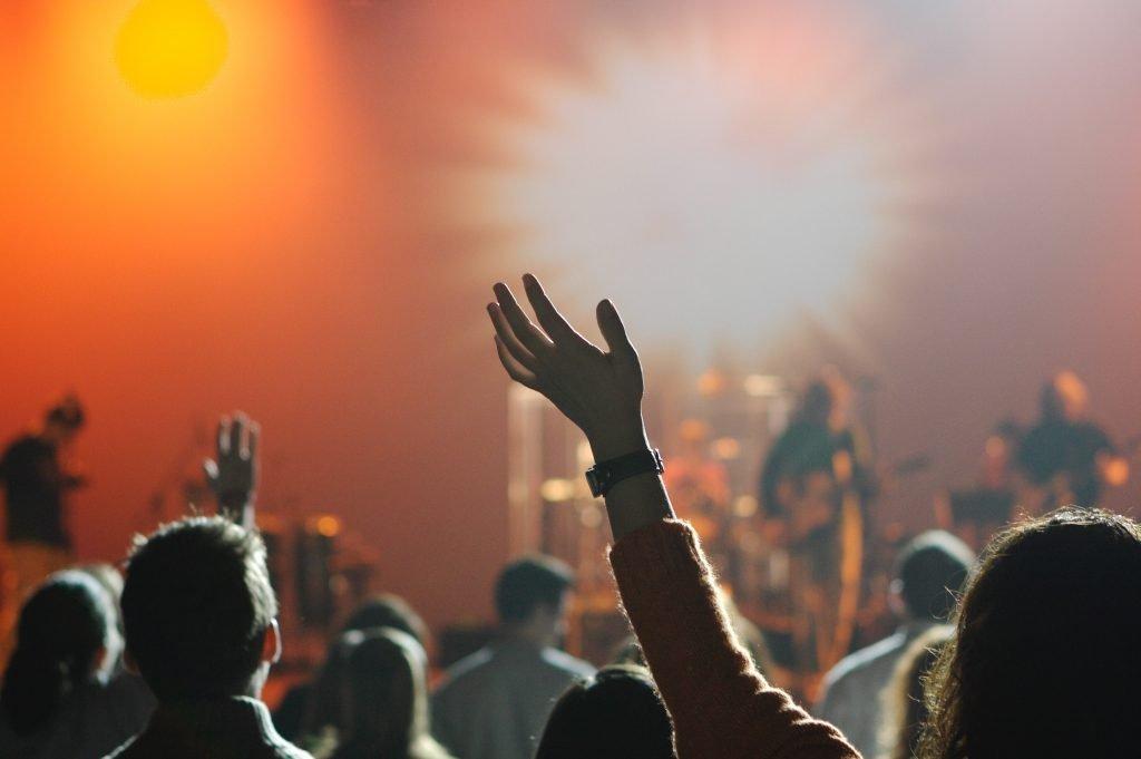 Church congregation worship