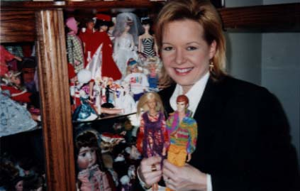 Sheri Easter with Barbie Dolls