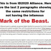 Mark of the Beast Penalty Included in ID2020 Alliance
