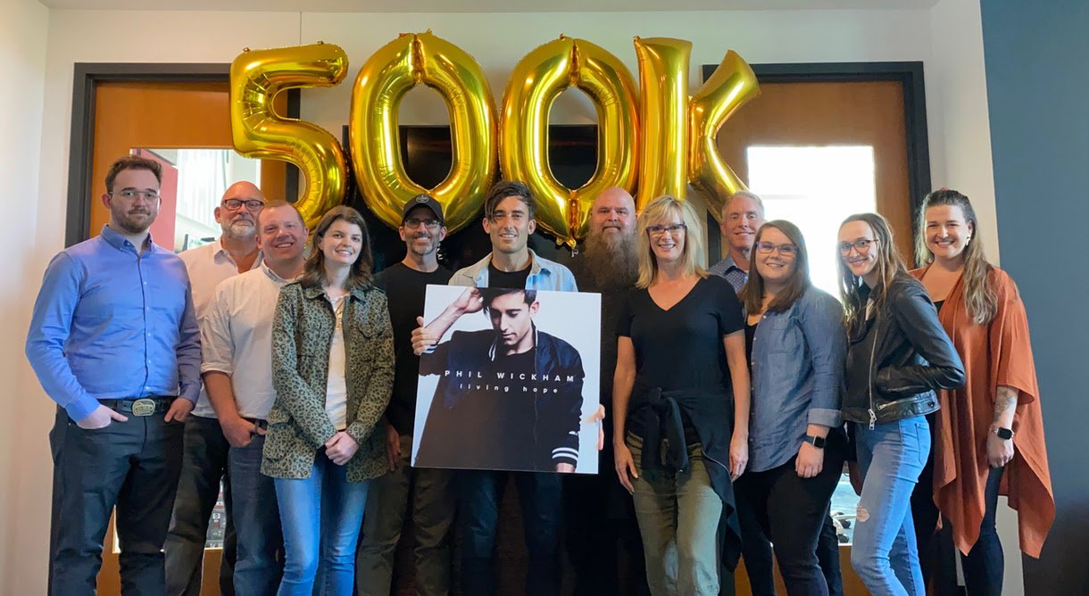 "Phil Wickham's career, ""Living Hope"" was recently certified Gold"
