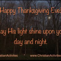 Happy Thanksgiving 2020 from Christian Activities!