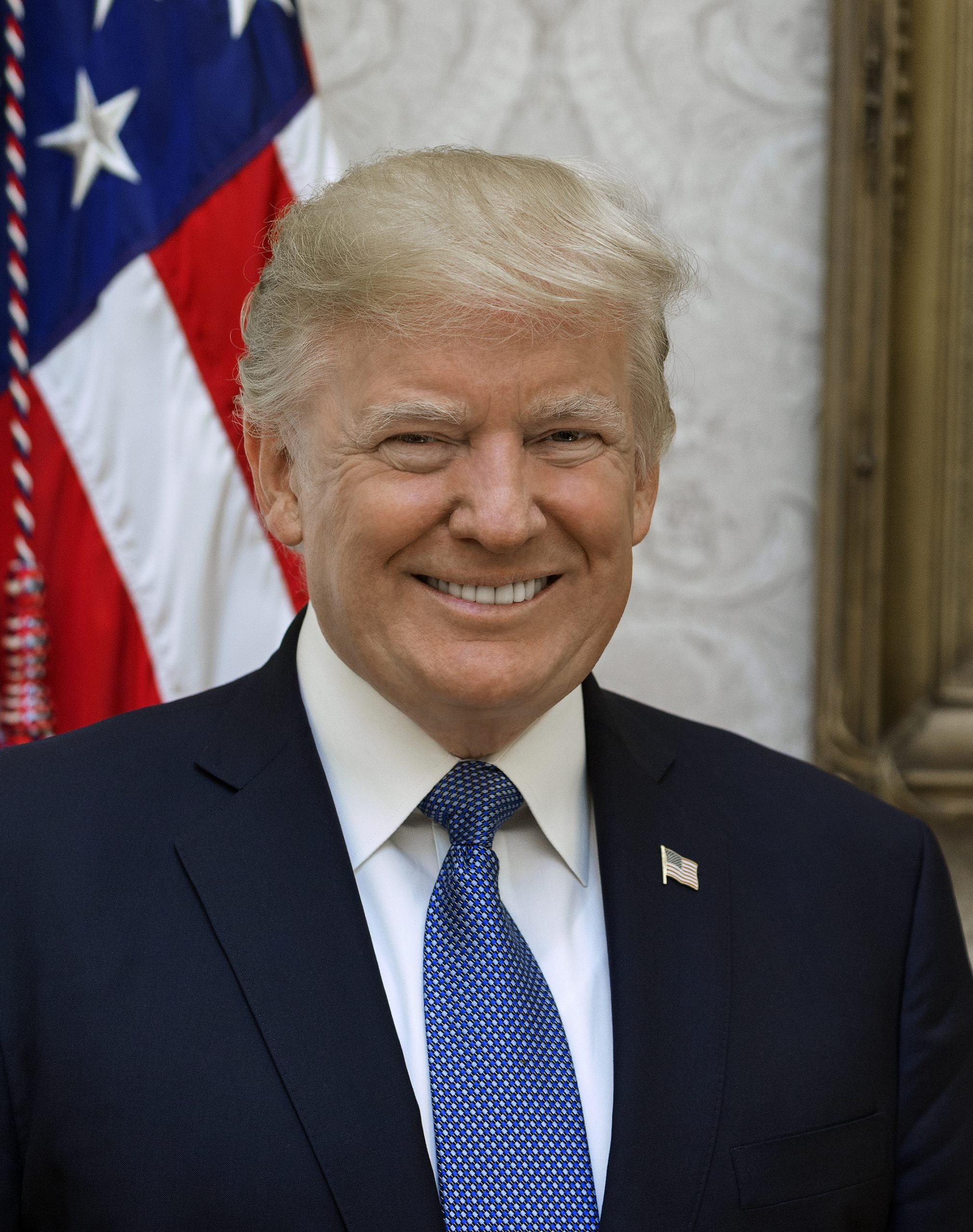 Official portrait of Pres. Donald Trump