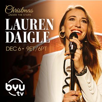 "Lauren Daigle ""Christmas Under the Stars"" art"