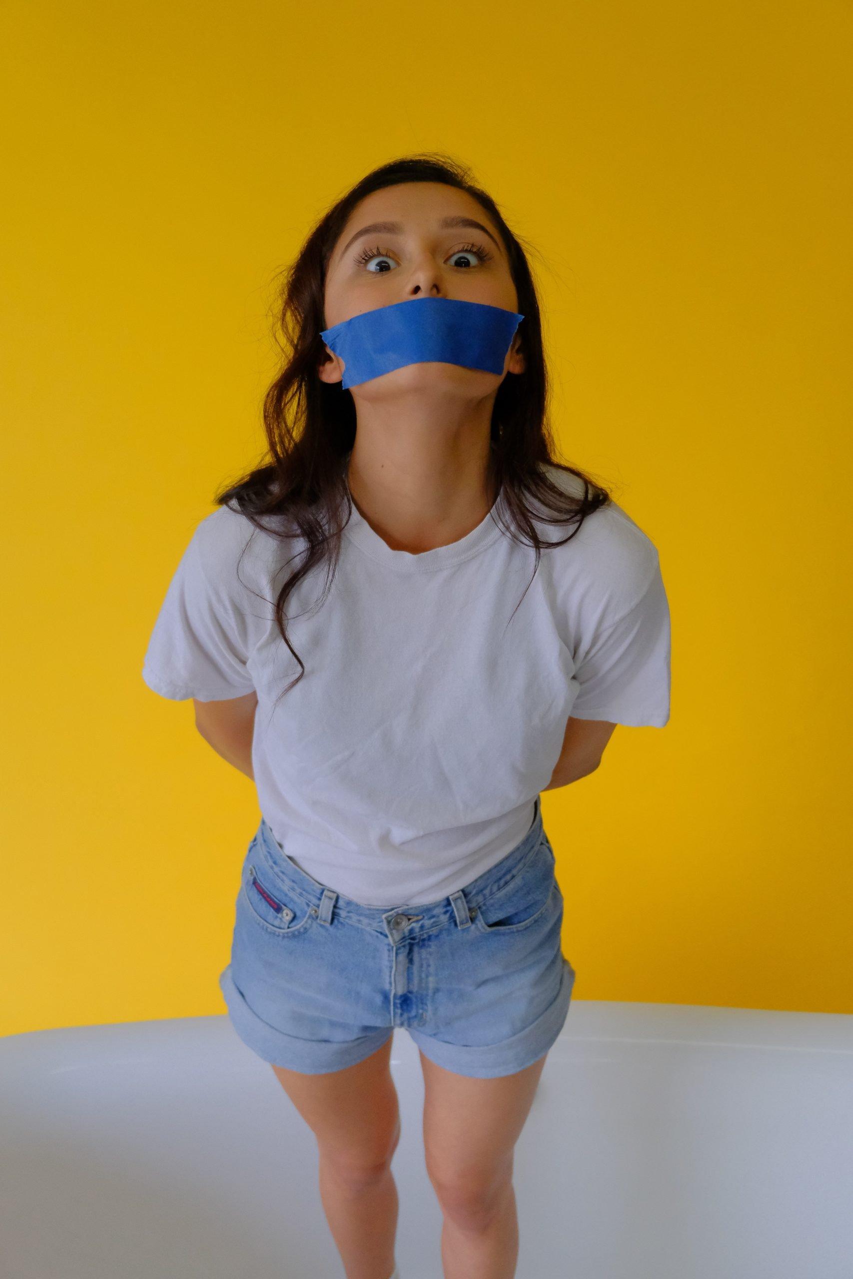 Photo depicting censorship