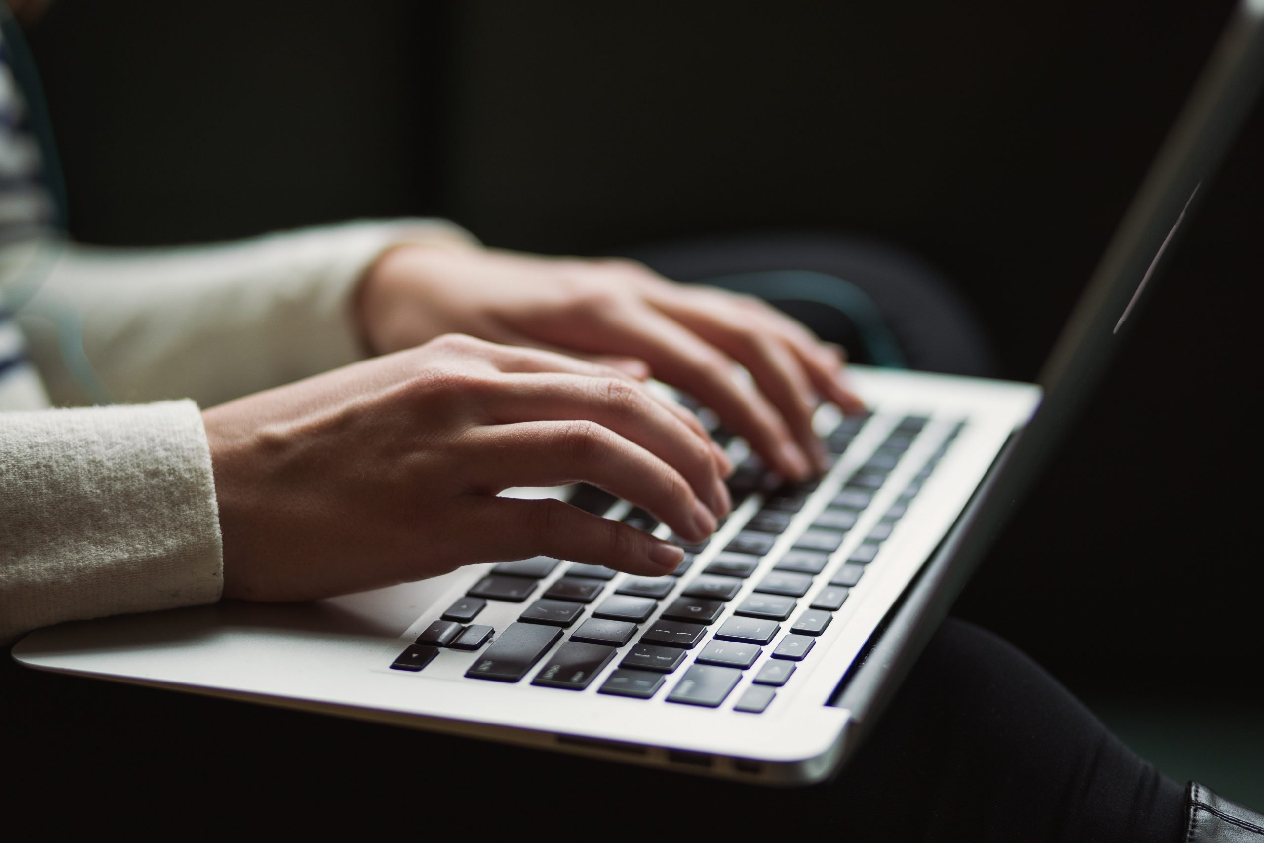 Photo of someone typing